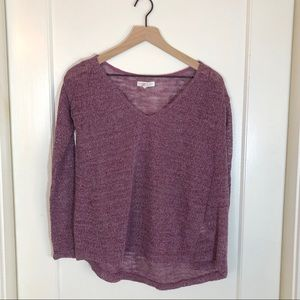 Aeropostale Purple Silver Metallic Sweater Medium